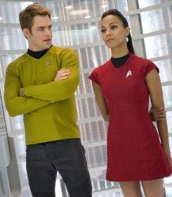 Chris Pine and Zoe Saldana in Star Trek Into Darkness
